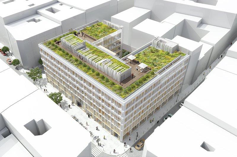 Le projet du mois - 1ère pierre pour UFO (Unique Flexible Offices), Paris 2e - Une façade inspirée par l'histoire du quartier, un lien entre mode et architecture