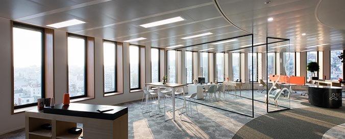 ZEHNDER - Be Issy : un spectaculaire bâtiment de bureaux - Chauffé et rafraîchi par les plafonds Zehnder
