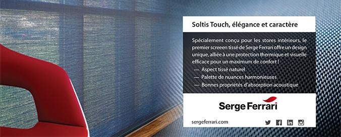 SERGE FERRARI - Soltis Touch - Synergie entre performances énergétiques et touche déco