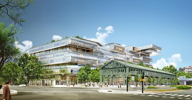 Le projet du mois - L'agence VIGUIER signe Bridge - Futur siège social d'Orange Monde à Issy-les-Moulineaux