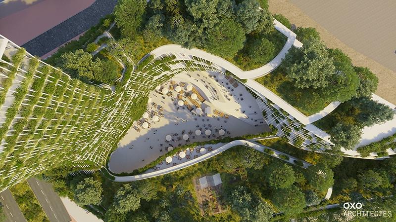 Le projet du mois - L'Arbre de vie à Créteil par OXO Architectes - Le projet audacieux d'une tour foisonnante de végétation