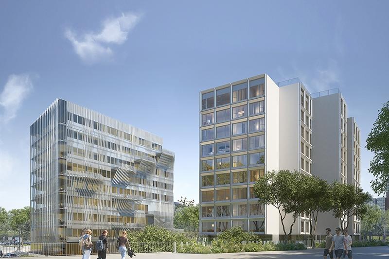 Le projet du mois - Îlot Etoile à Cergy par REICHEN ET ROBERT & ASSOCIES - Ensemble mixte : bureaux et résidence étudiante