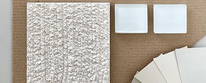 STO - StoDesign - Planche de composition de matières, recherche d'aspects