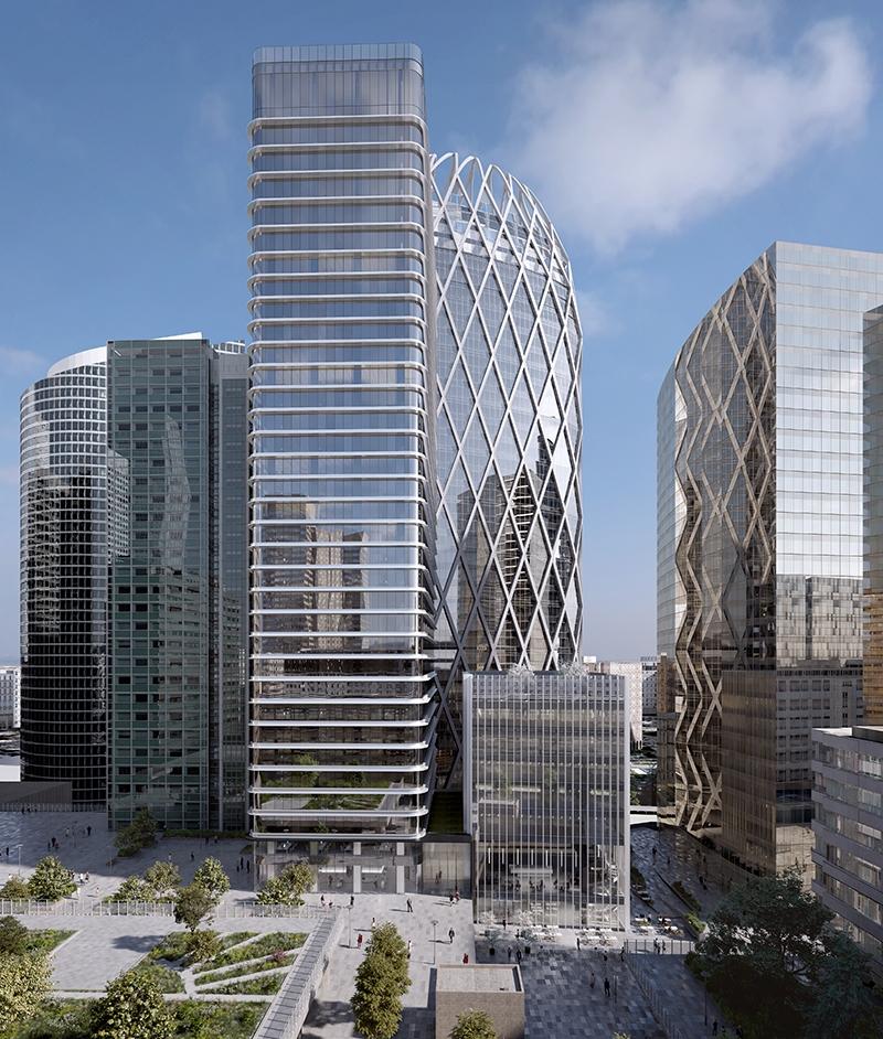 Le projet du mois - Lourde restructuration pour la Tour Aurore à La Défense - Un renouveau esthétique sur la skyline du premier quartier d'affaires d'Europe