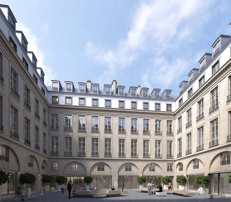 Le projet du mois - Carré Concorde, rue Saint-Florentin, Paris - Réhabilitation de deux hôtels particuliers du 18ème siècle en bureaux d'exception