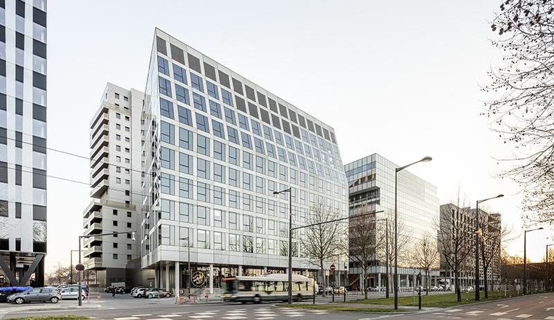 Le projet du mois - Vues sur cœur d'îlot et perspectives visuelles pour cet ensemble immobilier à Strasbourg - Immeuble de bureaux et commerces pour le quartier Européen de Strasbourg