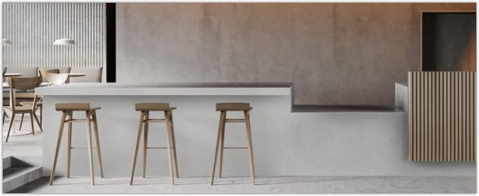 UNILIN Panels - Gamme de panneaux décoratifs MDF teintés dans la masse pour projets d'agencement - Un design élégant et raffiné