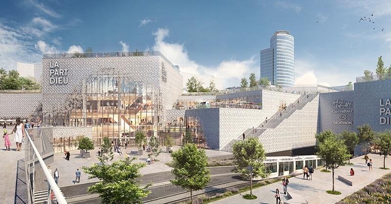 Le projet du mois - La transformation du centre commercial La Part-Dieu à Lyon - Une réelle prouesse technique : Extension-rénovation réalisée dans un centre existant et en exploitation