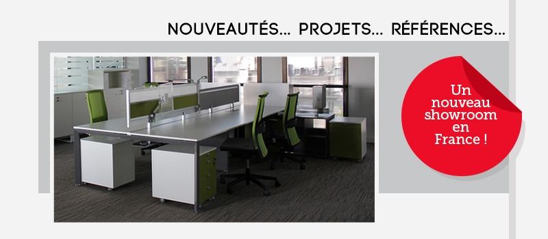 Nouveautés... Projets... Références... Un nouveau showroom en France !