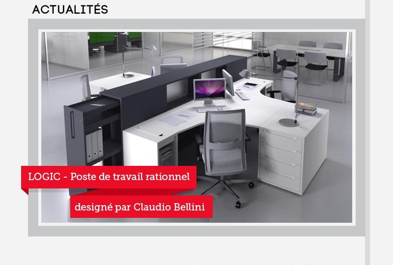 LOGIC - Poste de travail rationnel designé par Claudio Bellini
