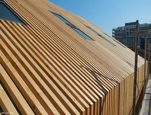 Un lieu de culte en bois massif par OBA architectes