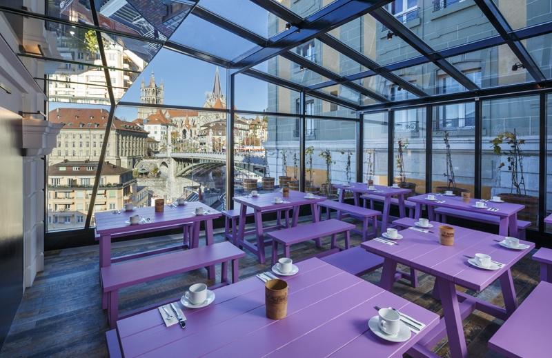 Le projet du mois : Rénovation du Swiss Wine Hotel & Bar Lausanne, Suisse