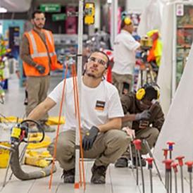 URETEK - Procédé Floor Lift® - Stabilisation d'un hypermarché de 11 000 m²