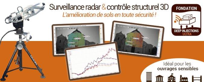 URETEK - Deep Injections Ultra® - Surveillance radar et contrôle structurel 3D